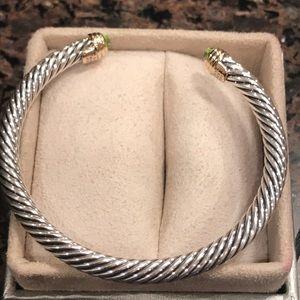 Authentic David Yurman Prasiolite/Gold Bracelet